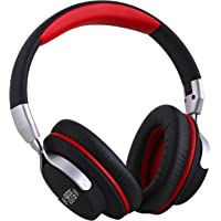 AUSDOM AH861-BLACK Over-The-Ear Headphones with Mic and ShareMe Bluetooth 4.1 for Wireless Stereo Music Listening - Foldable Sports Earphones Suitable for Exercise, Gym, Gaming and More