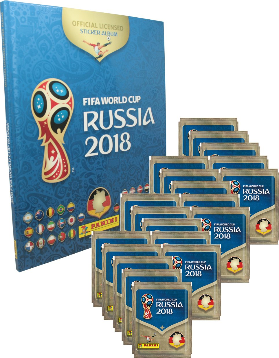 10 FIFA World Cup Russia 2018 Panini Sticker Albums Empty USA Edition Set Of 5