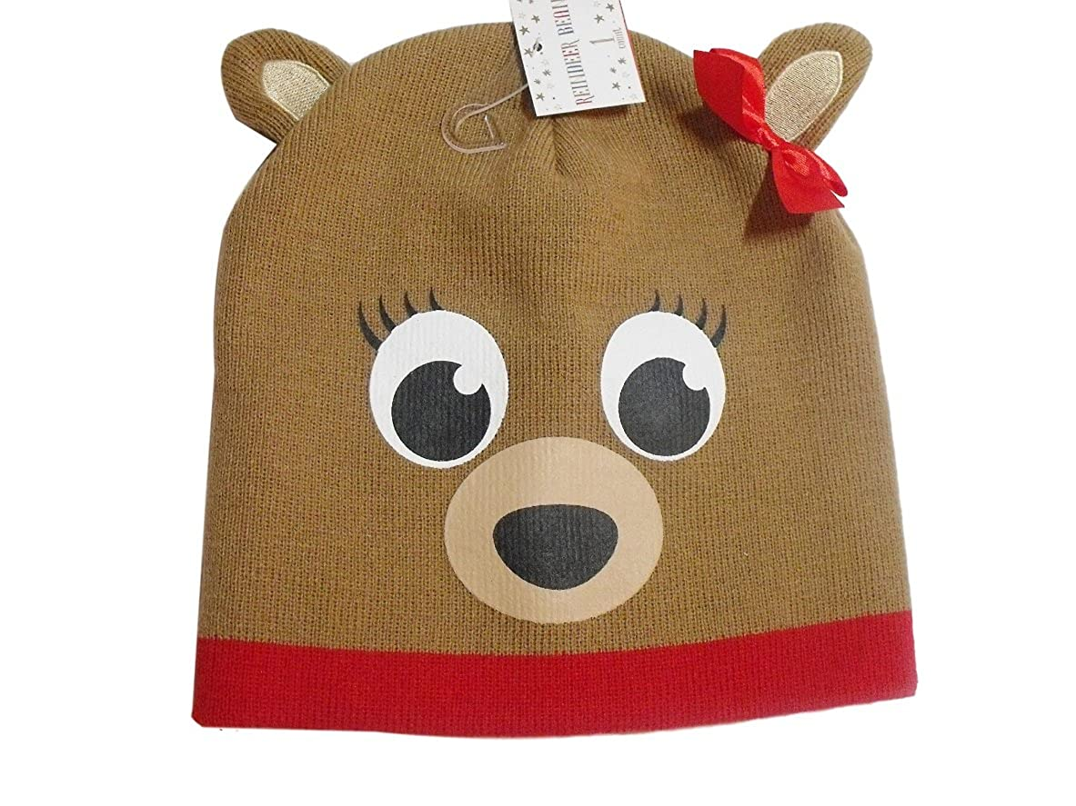 Berkshire Fashions Clarice Rudolph The Red Nosed Reindeer Beanie Hat Winter Knit Girls