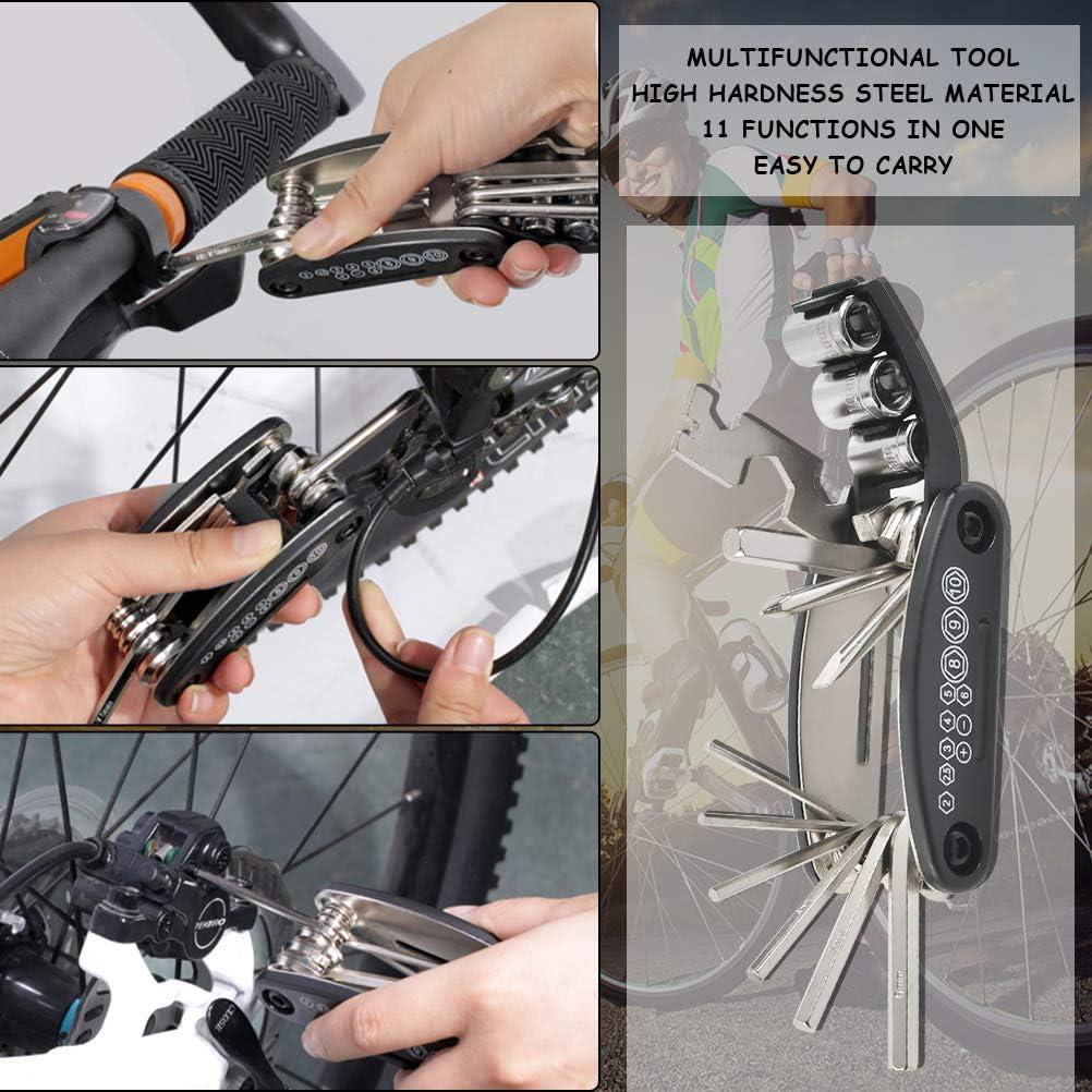 herramientas multifuncionales palancas de neum/áticos 16 en 1 parches autoadhesivos para tubos de neum/áticos incluidos. FOCCTS Kit de herramientas de reparaci/ón de bicicletas