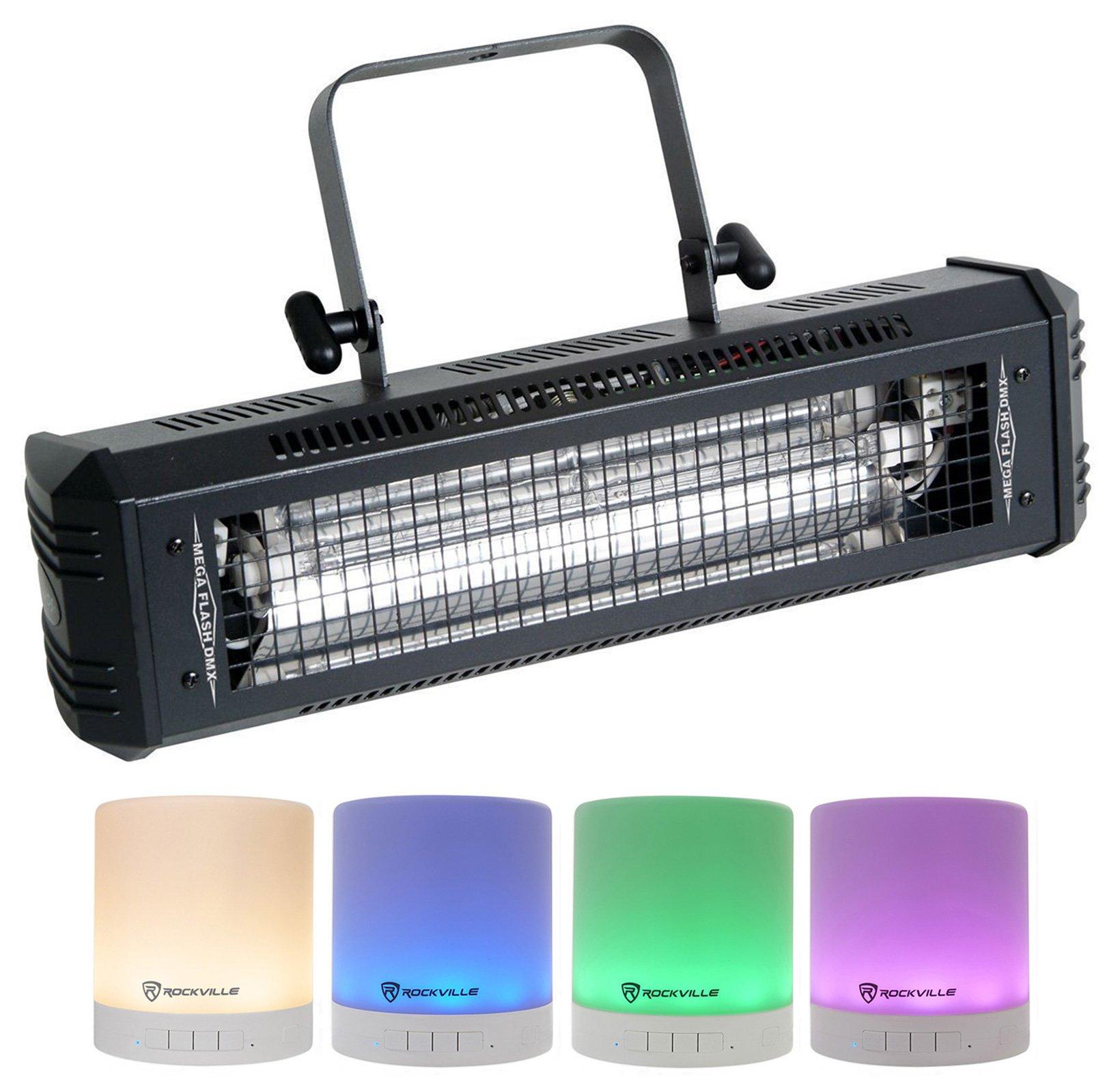 American DJ Mega Flash DMX 800w DMX Strobe Light w/ Sound Sensor + Free Speaker!