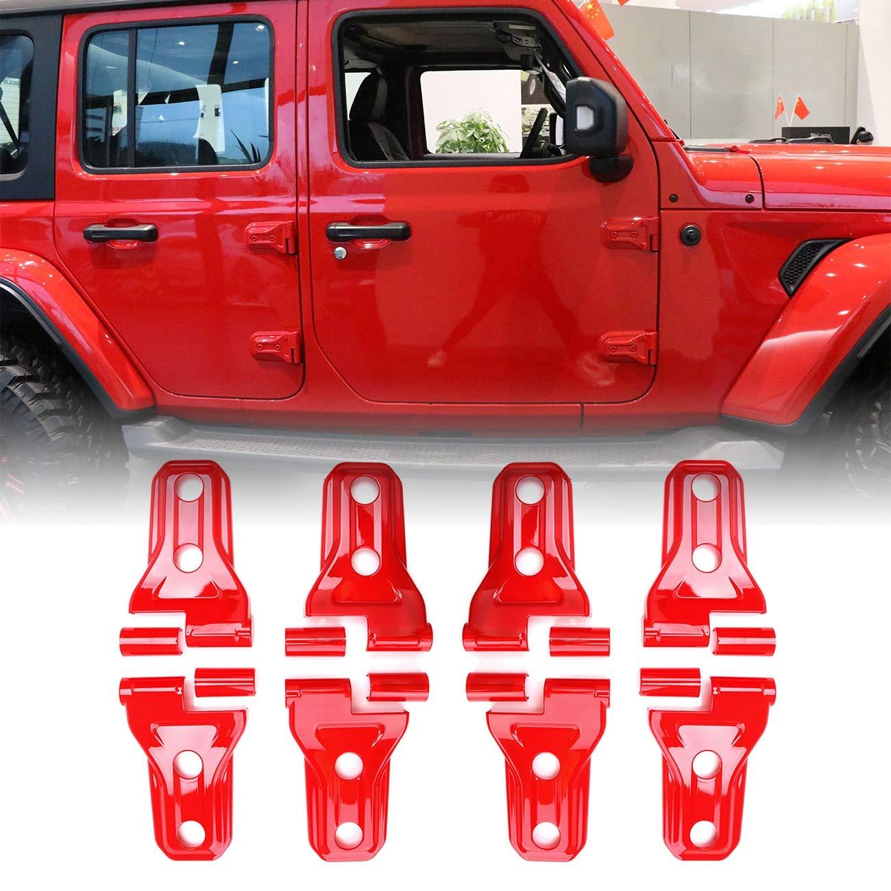 4 Pieces Triple Strap Roll Bar Grab Grip Handles Black for Jeep Wrangler YJ TJ JK JKU 1987-2017