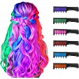 New Hair Chalk Comb Temporary Hair Color Dye for Girls Kids, Washable Hair Chalk for Girls Age 4 5 6 7 8 9 10 New Year Birthd