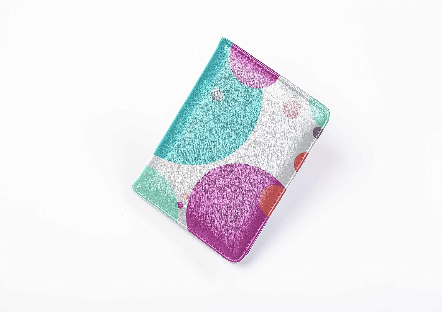 Passport Cases Dreamy Colorful Bubble Waterdrop Mens Passport Case Multi Purpose Print Luxury Passport Cover Travel Wallets For Unisex 5.51x4.37 Inch