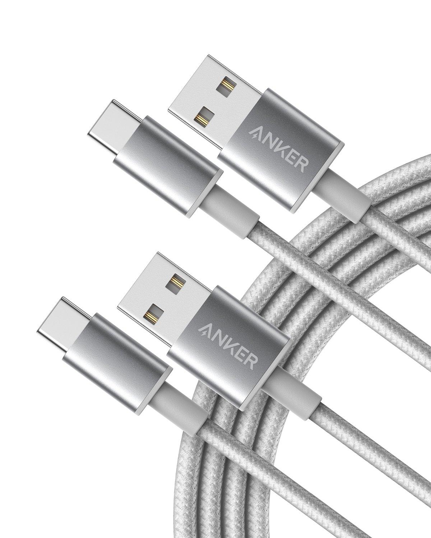 【2本セット】Anker 高耐久ナイロン USB-C & USB-A 2.0 ケーブル (1.8m)