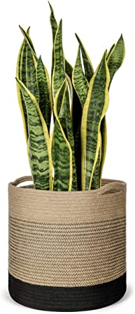 "Woven Plant Basket Storage Basket Organizer Modern Home D/écor Baby Nursery Laundry Storage Clothes Toy Organizer Plant Pot Basket Cotton Rope Plant Basket for 10 Planter 11/"" x 11/"""
