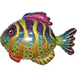 "COLORFUL FISH 33"" ANTI-GRAVITY FLOATING TOY - Amazing STRING-LESS HOVERING ZERO-G Balloon, Flying Animal Kingdom Under The Sea Birthday Party Favor"