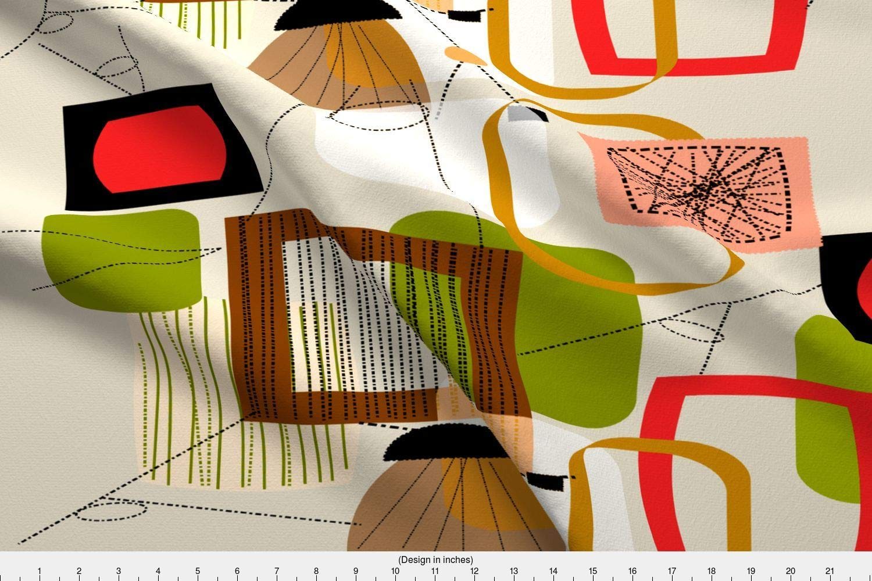 Amazoncom Spoonflower Mid Century Modern Fabric Mid Century