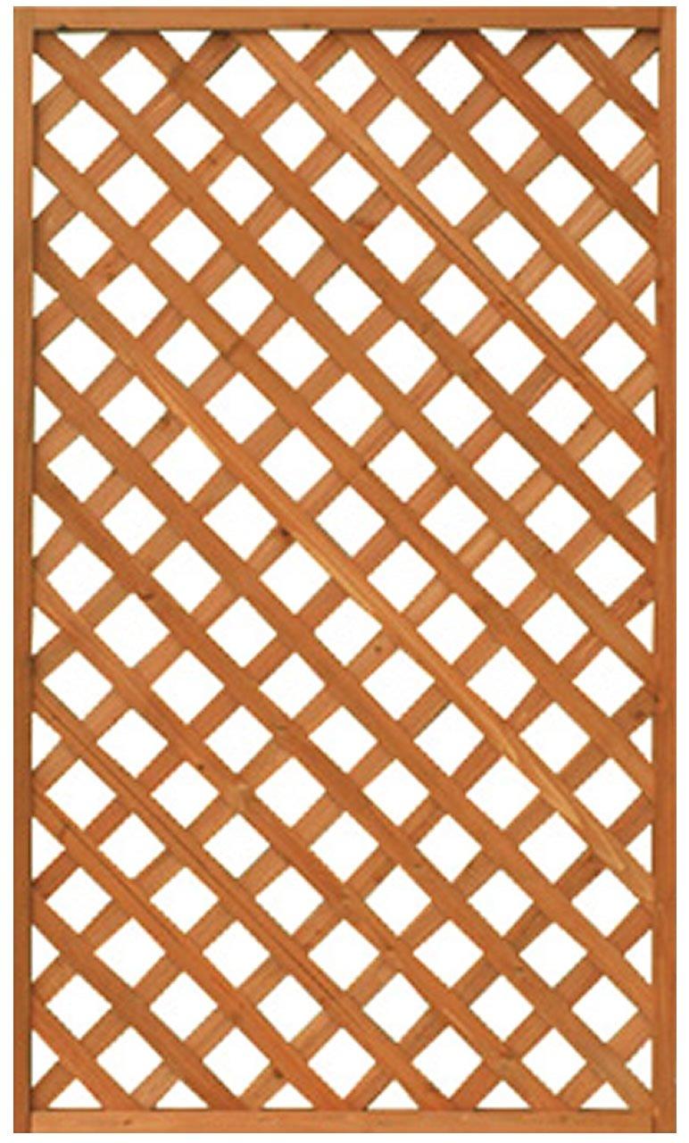 天然木製 格子ラティス 90cm×120cm×35mm 4枚セット ライトブラウン WLL-9012 B00832PQ3I 90cm×120cm (4枚セット)  90cm×120cm (4枚セット)