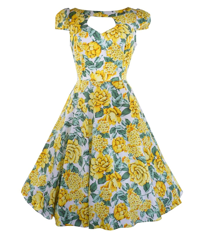 Tiger Milly - Damen H&R London 50s Blumenmuster Sommerkleid