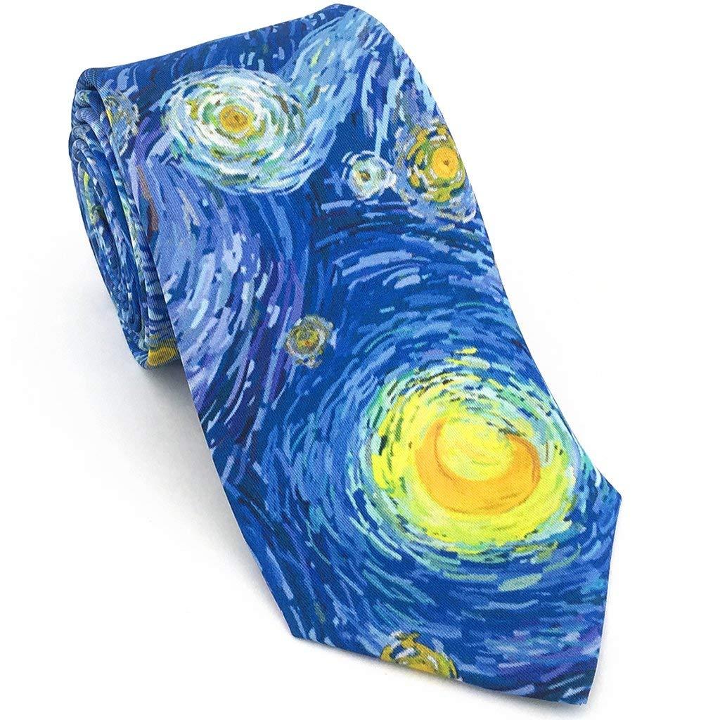 Josh Bach - Corbata de seda para hombre, diseño de luna estrellada ...