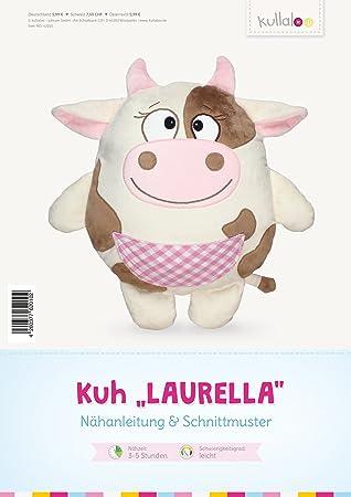 kullaloo - Schnittmuster & Nähanleitung für Stofftier / Kissen Kuh ...