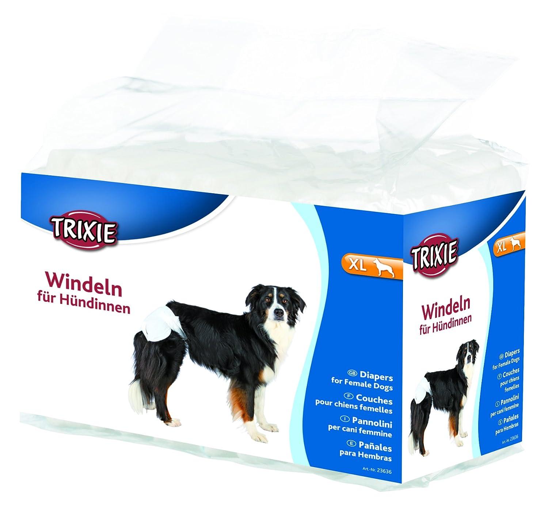 Trixie, Pañales para Perros, Ultra Absorbentes, Tamaño M, 12 Unidades: Amazon.es: Productos para mascotas