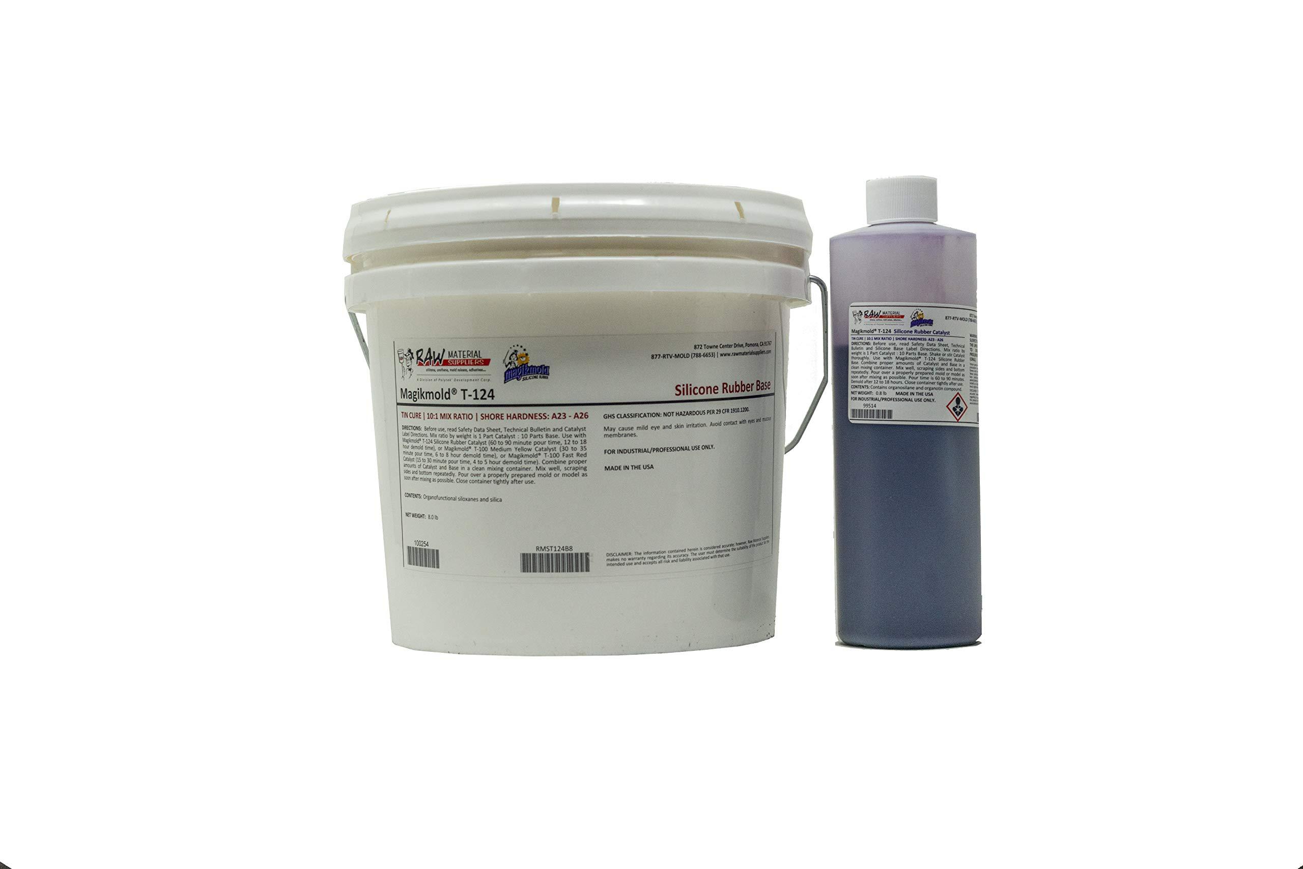 Magikmold T-124 Tin Cure Silicone - 8.8 lb Kit - Standard Purple Catalyst