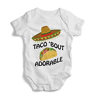 877c82d13a2e Taco ' Bout Adorable - Onesie, Funny, Humor, Baby Bodysuit, Romper,