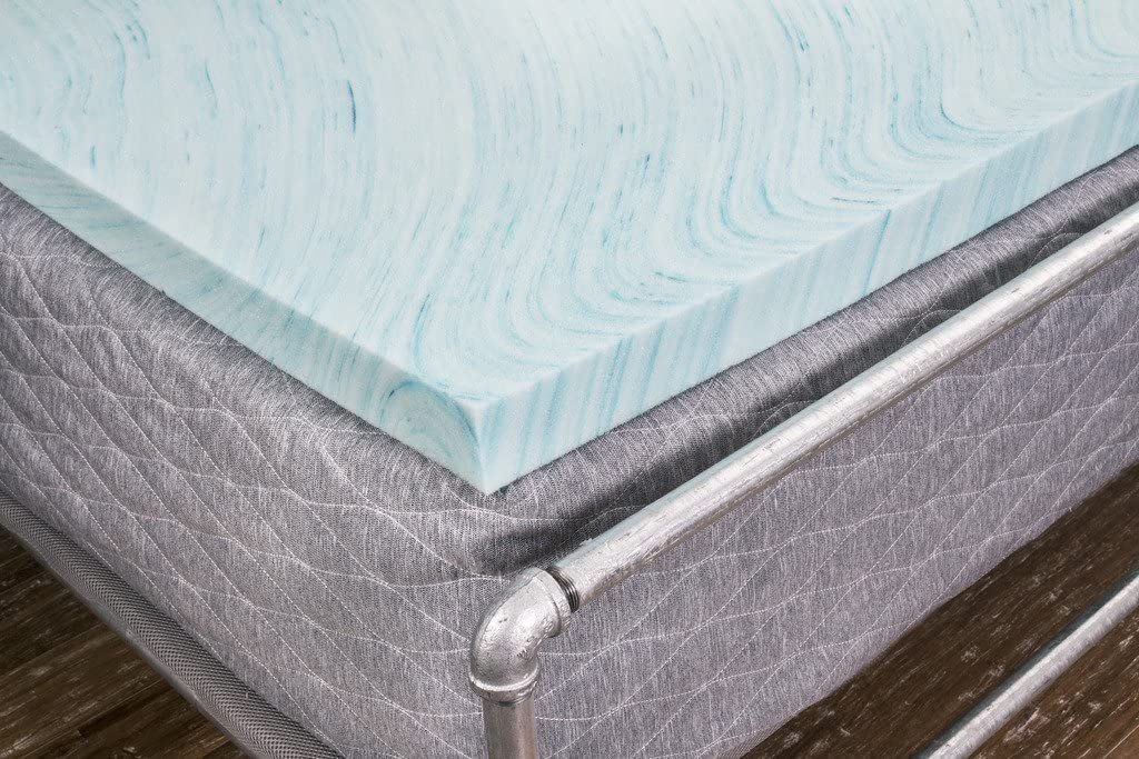 DreamFoam 2 Gel Swirl Memory Foam Topper, Made in USA, King