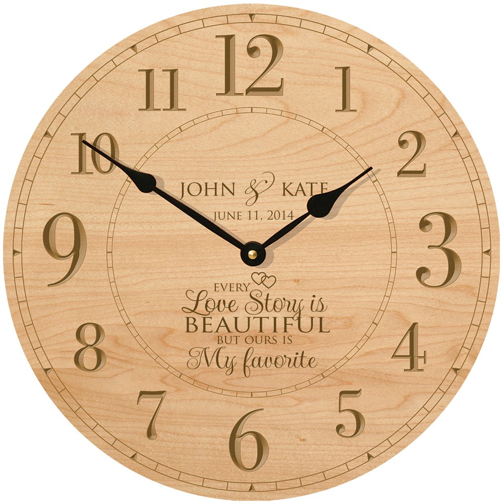 Amazon.com: Wedding Wall Clock or Large Anniversary Clock ...