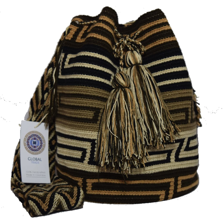Mochila Wayuu Ethnic 100% hand Woven Shoulder Bag Multicolor