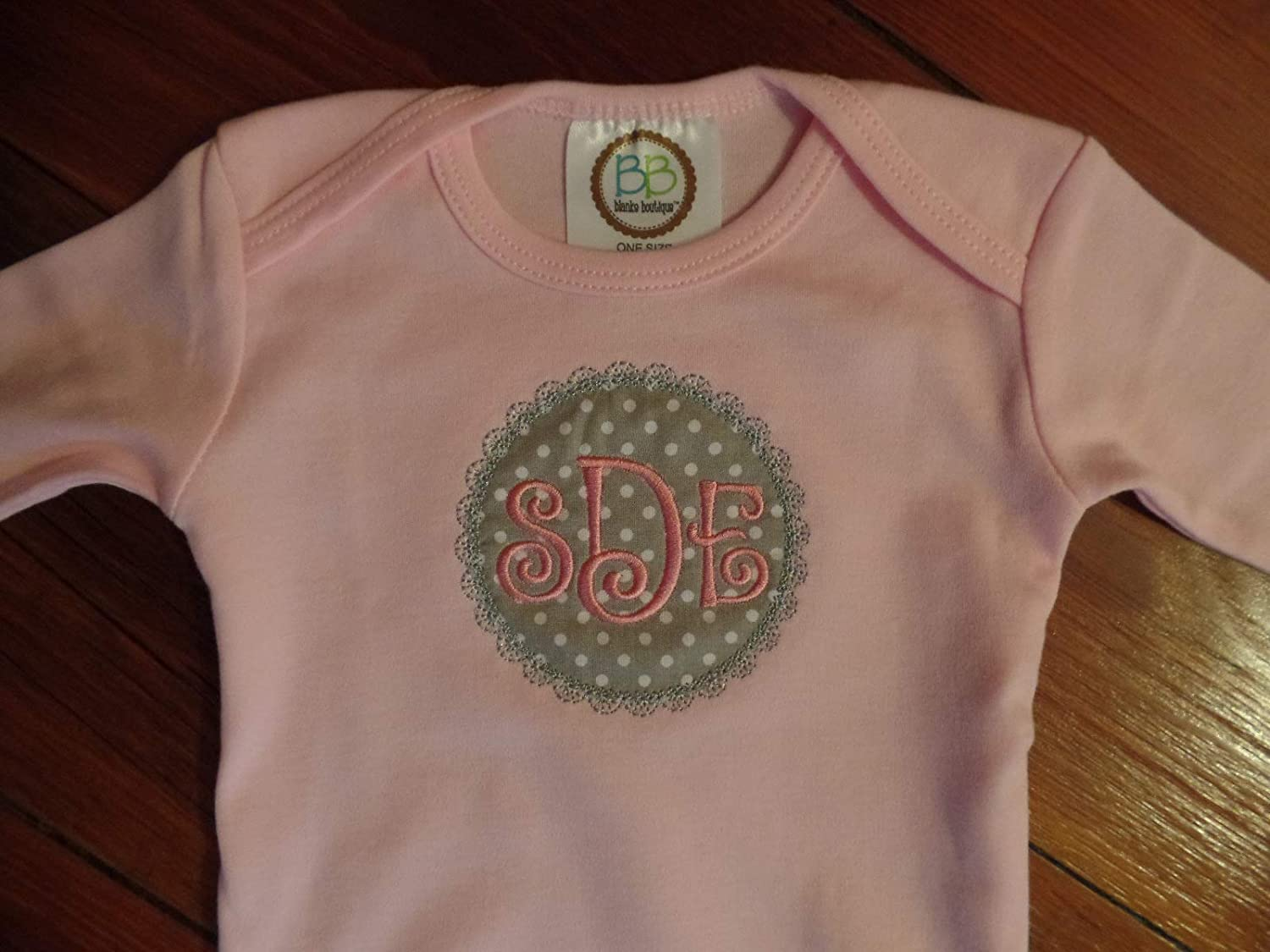 Baby Girl Personalized Coming Home Outfit Infant Girl Monogram Gown Baby Shower Gift