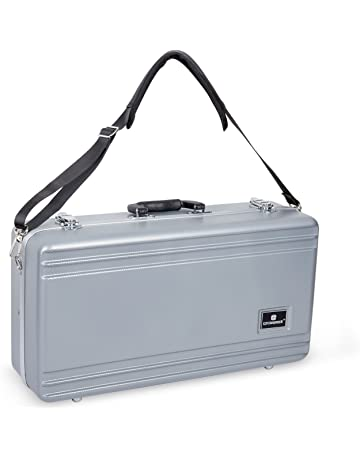 Crossrock CRA860TRSL Trumpet, Rectangular ABS Molded Hard Shell Case with Padded Strap in Silver