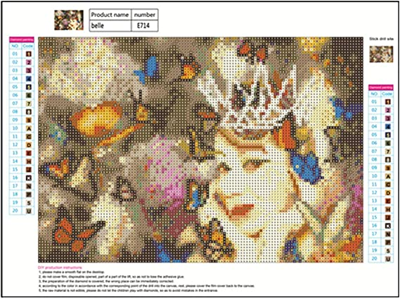 WOBANG 5D DIY Diamond Painting, Diamantes 5D Pintura Diamante, Crystal Kit Mujer con Flor Embroidery Cross Stitch Arts Craft Canvas Wall Decor: Amazon.es: Juguetes y juegos