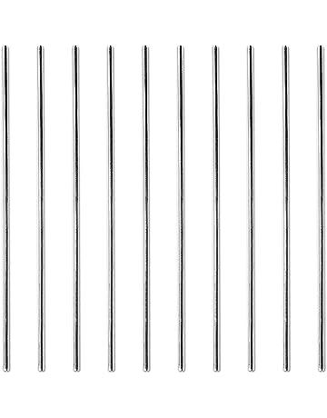 SODIAL 15Pcs HSS varilla de 1 mm de diametro 100 mm de largo para el torno