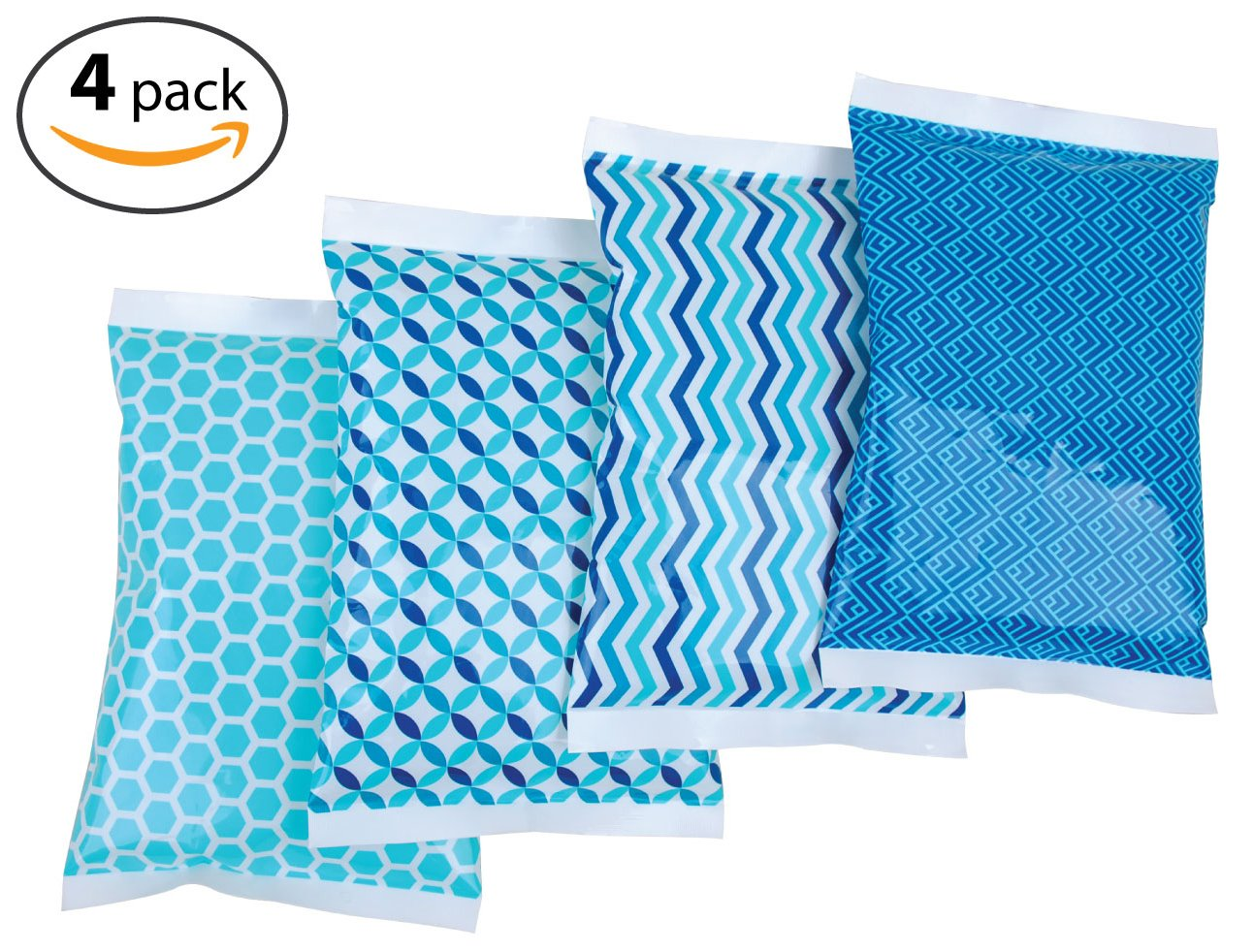 Ice Pack for Lunch Boxes - 4 Reusable Packs - Keeps Food Cold – Cool Print Bag Designs - Great for Kids or Adults Lunchbox and Cooler by Thrive (Image #9)