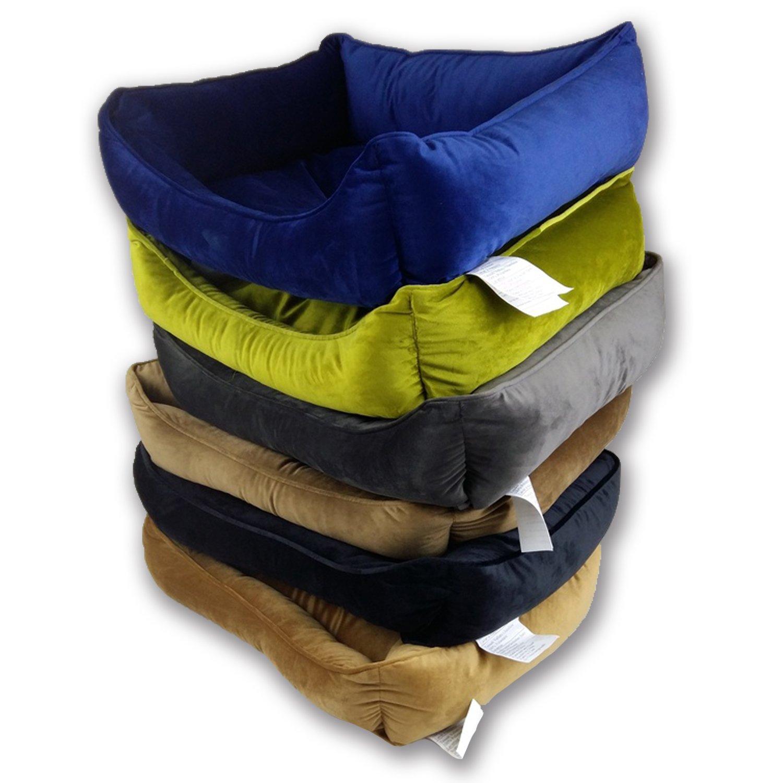 Akida - Cojín tipo donut, cama para perro rectangular, sofá para perro, cama para gato, cómodo y confortable, forma circular, se puede lavar a máquina: ...