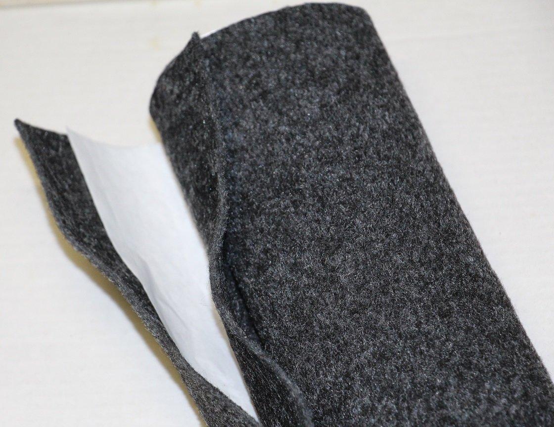 Moquette adesiva liscia da 65x151 cm di colore grigio antracite Black music