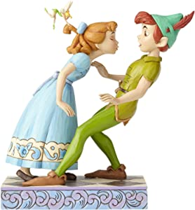 "Enesco Disney Traditions by Jim Shore 65th Anniversary Peter Pan and Wendy Stone Resin, 7.6"" Figurine, 7.6 Inches, Multicolor"