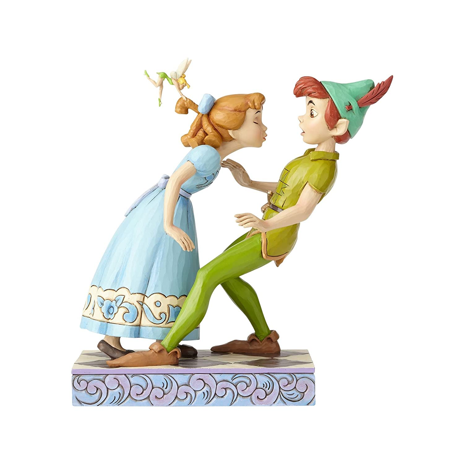 Disney Traditions An Unexpected Kiss Peter Pan and Wendy Figurine, Resin, Multi-Colour, 170 x 110 x 190 cm Enesco 4059725