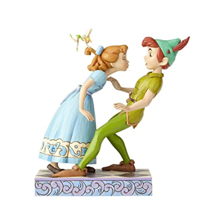 Enesco Disney Traditions by Jim Shore 65th Anniversary Peter Pan and Wendy Stone Resin, 7.6 Figurine, 7.6 Inches, Multicolor