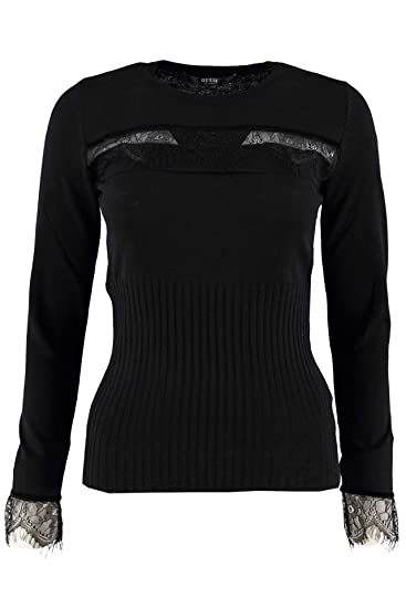 8879232c9d Guess Maglia Donna Nero: Amazon.co.uk: Clothing