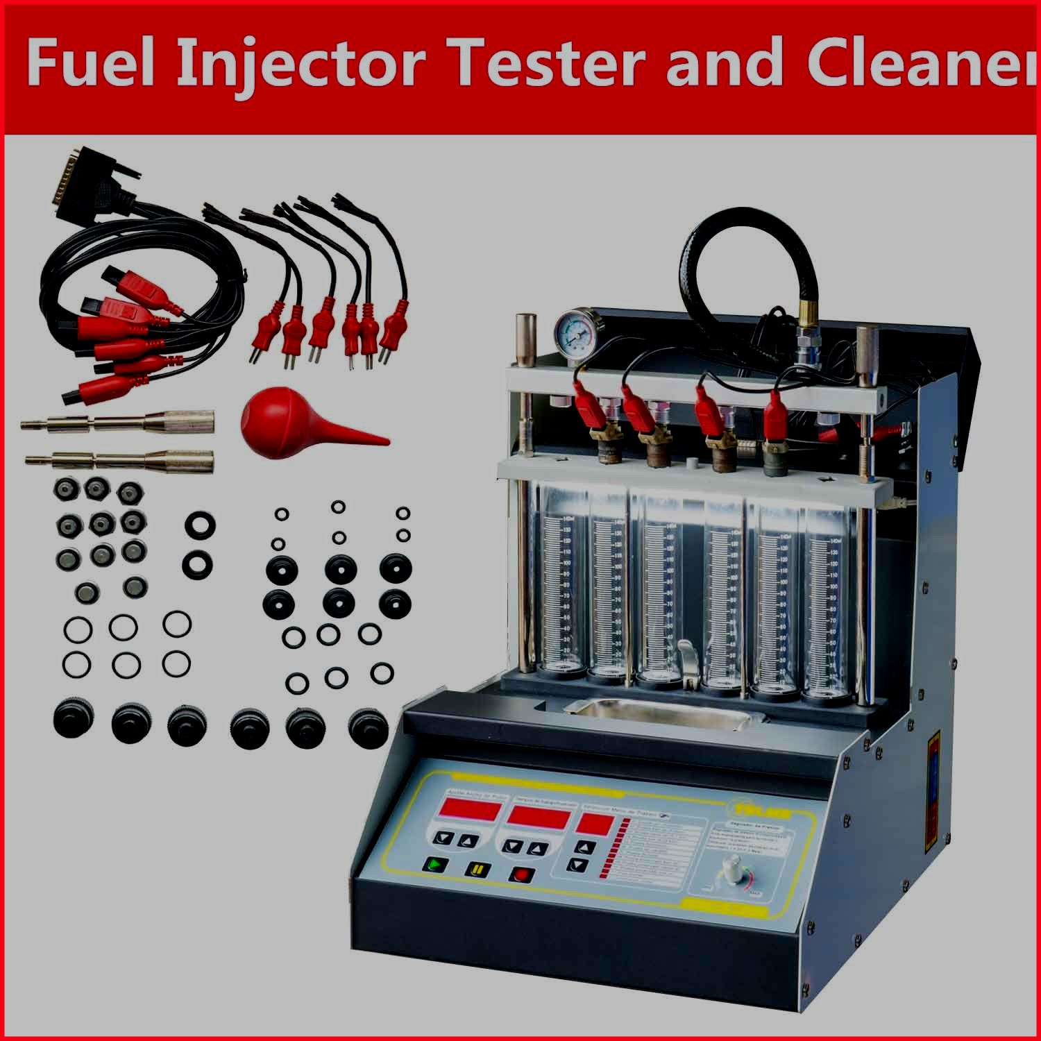 Injector Cleaner Injection Tester Ultrasonic Car Motorcycle Vehicle Automotive Tools And Accessories - House Deals