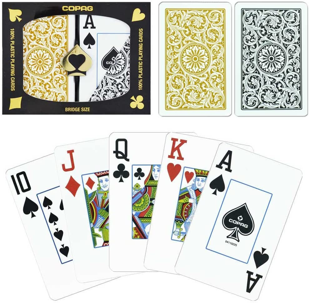 COPAG CLASS LEGACY BRIDGE SIZE JUMBO DOUBLE DECK 100/% PLASTIC PLAYING CARDS NEW