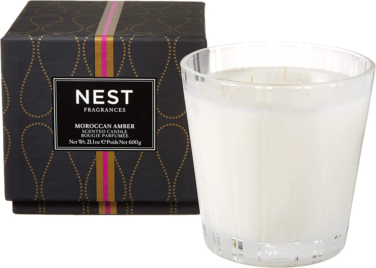 NEST Fragrances 3-Wick Candle- Moroccan Amber , 21.2 oz