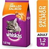 Whiskas Grilled Salmon, Dry Food Adult, 1+ years, 1.2kg