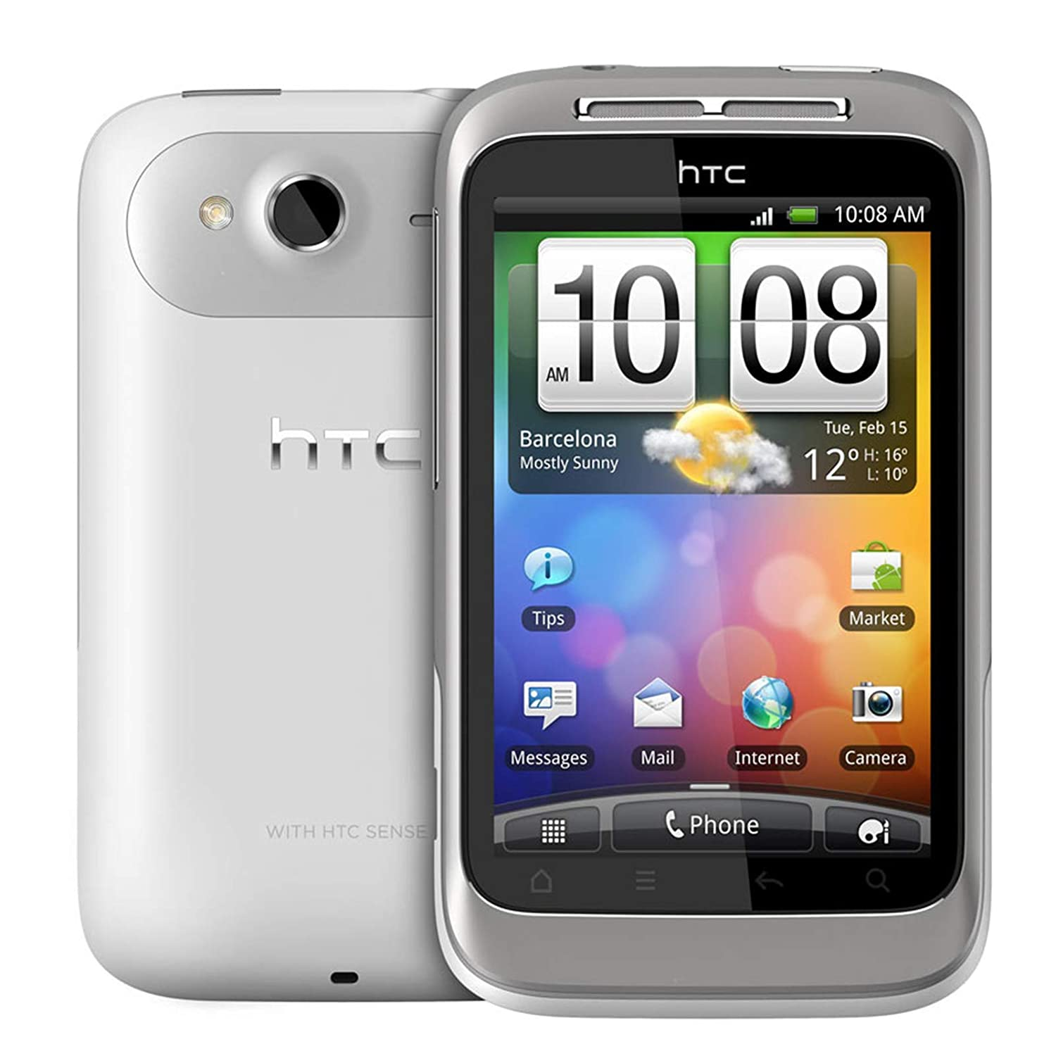 Amazon.com: T-Mobile Prepaid - HTC Wildfire No-Contract SMARTPHONE - White:  Cell Phones & Accessories