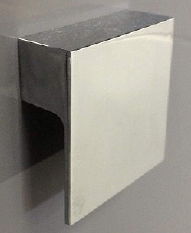 Handles Ironmongery Polished Chrome 60mm Square L Shape Pull Knob Kitchen Cupboard Door Handle 68220 Amazon Co Uk Kitchen Home