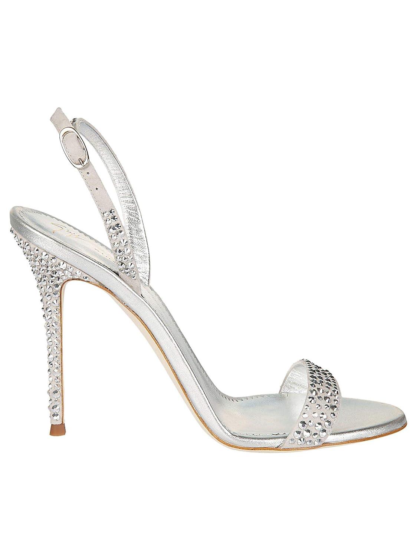 - GIUSEPPE ZANOTTI DESIGN Women's E800008001 Silver Leather Sandals