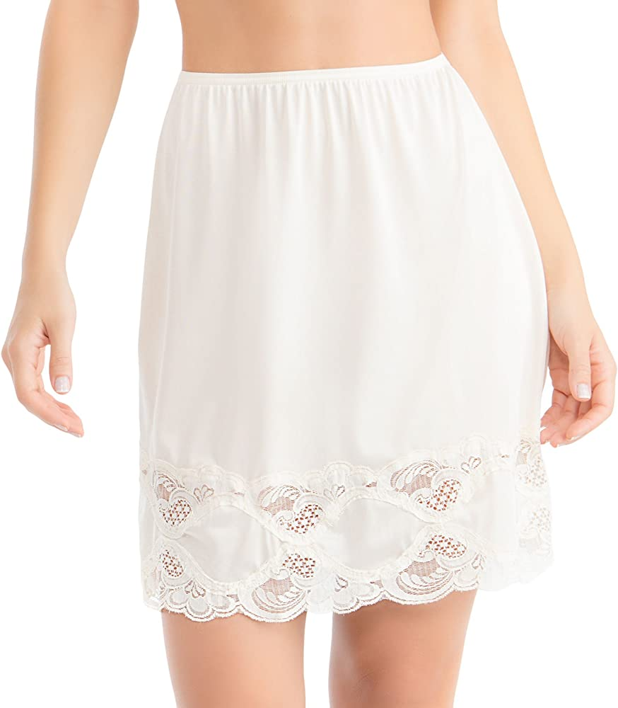 The Tight Shop Ladies 27 Waist Slip with Lace Trimmed Hem