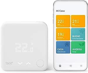 tado° Termostato Inteligente Cableado Kit de Inicio V3+ - Control inteligente de calefacción, Instálalo tú mismo, Designed in Germany