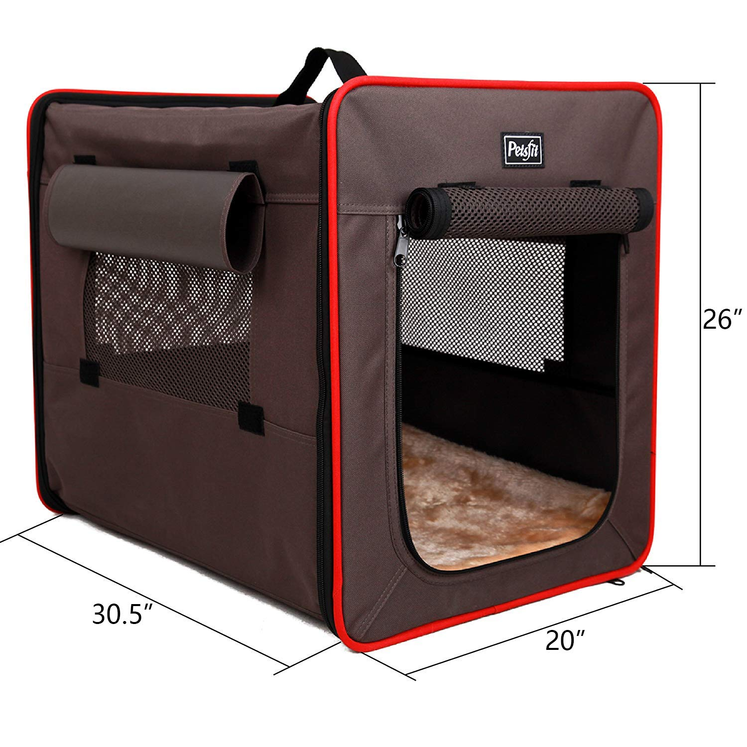 Petsfit Solid Frame Soft Crate for Indoor and Outdoor Use, Collapsible
