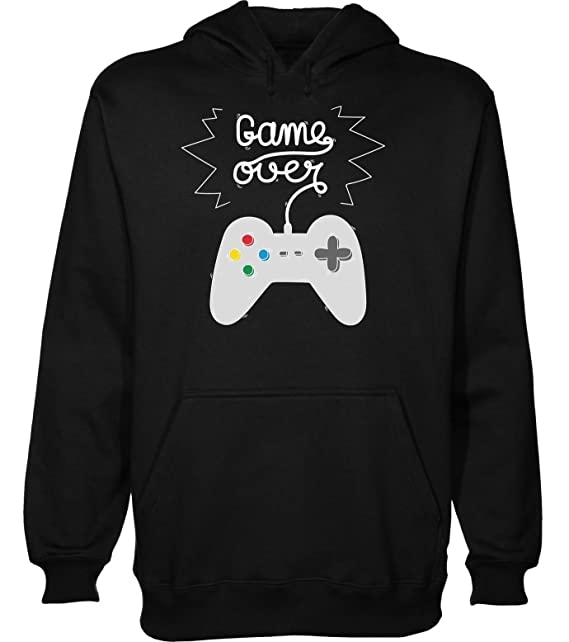 Game Over Cool Gamer Gamepad Design Sudadera con Capucha para Hombre XX-Large: Amazon.es: Ropa y accesorios