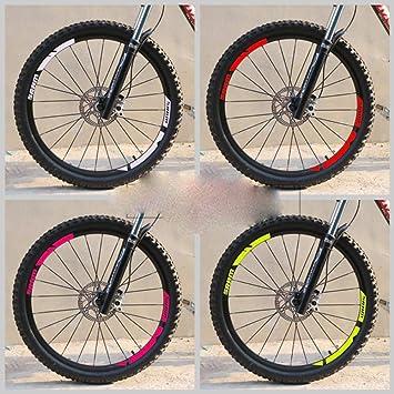 DACCU - Pegatinas para llantas de bicicleta de montaña, color 26 ...