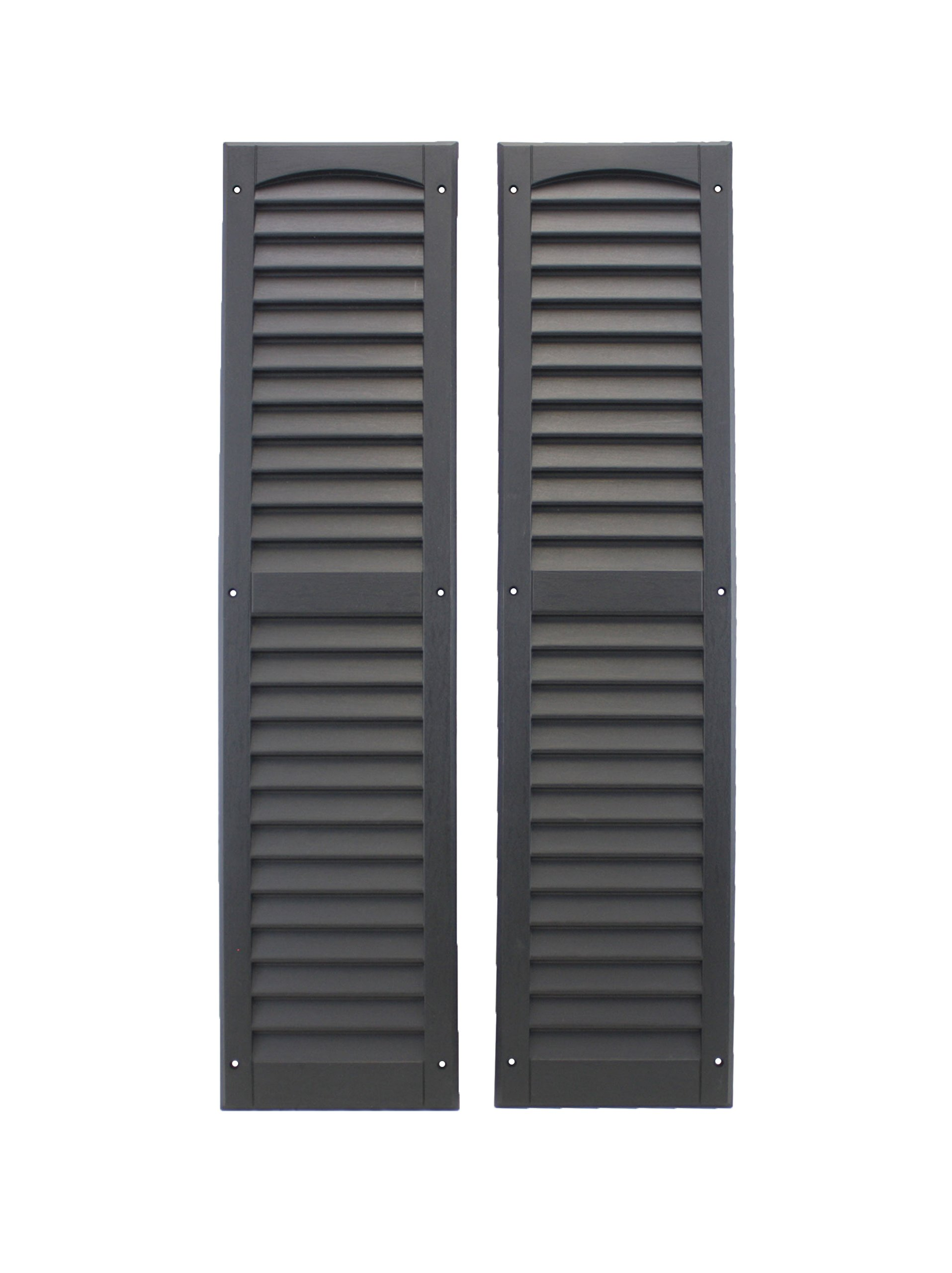 Louvered Shed Shutter Or Playhouse Shutter Black 9'' X 36'' Sold by The Pair