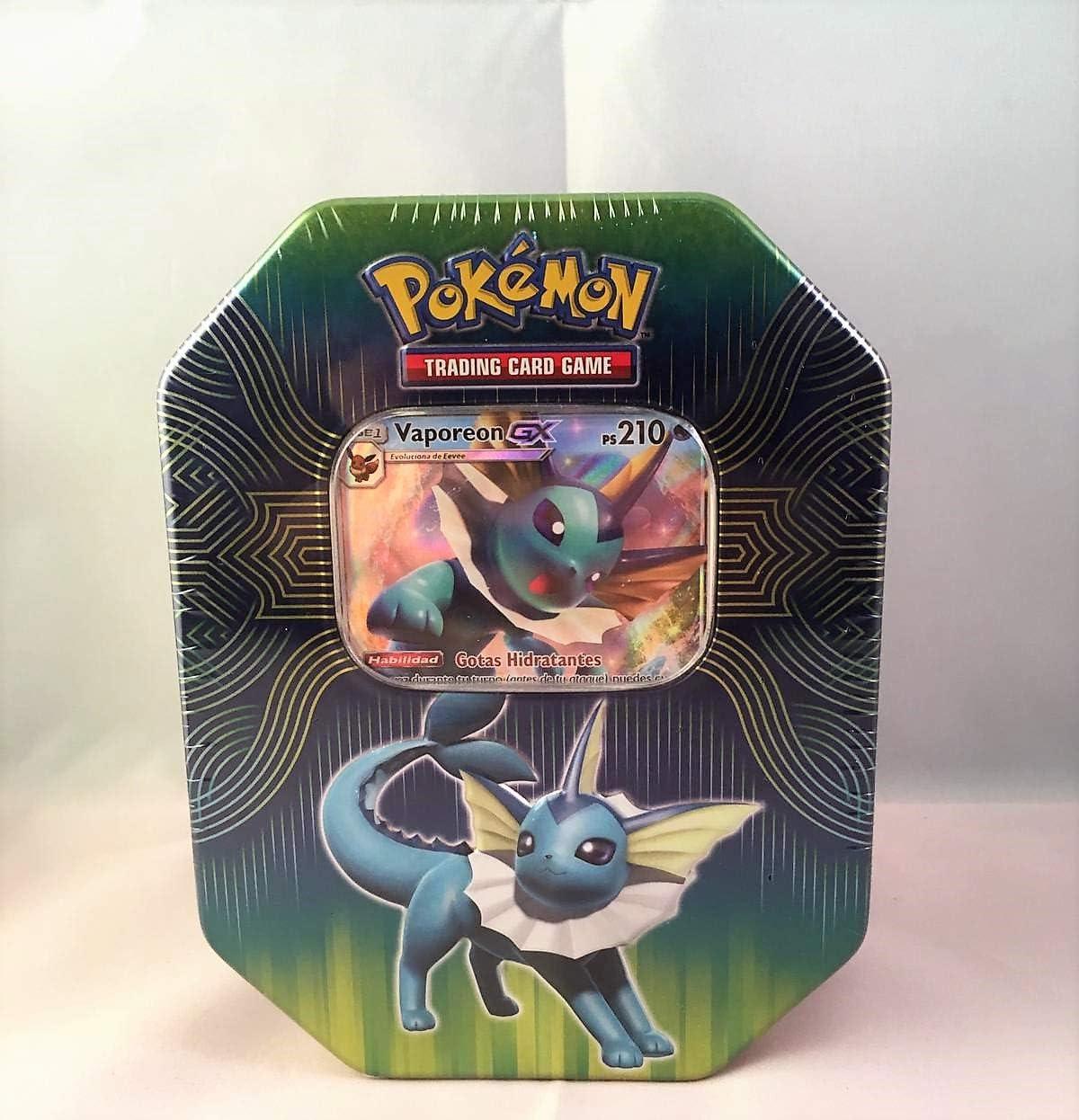Caja Metalica de Pokemon (Vaporeon gx) español: Amazon.es ...