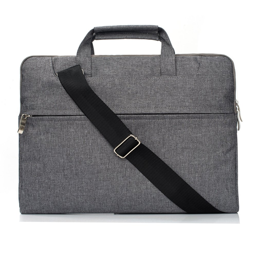 MeiLiio Messenger Bags Briefcases Handbag Tablet Crossbody Polyester Multifunctional Carrying Bag Case Sleeve for 15-15.4 Inch Laptop,Notebook,MacBook Air/Pro (Gray)