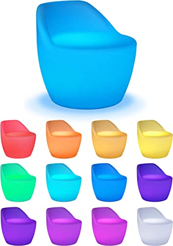 Playlearn Rechargeable LED Light Up Chair Furniture