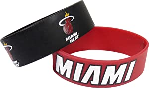 NBA Miami Heat Silicone Rubber Bracelet, 2-Pack